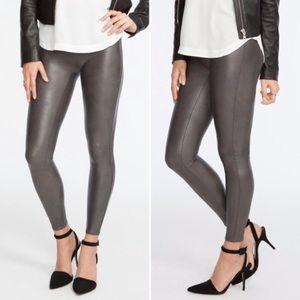 Spanx Faux Leather Leggings Gunmetal